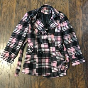 Pink and black coat